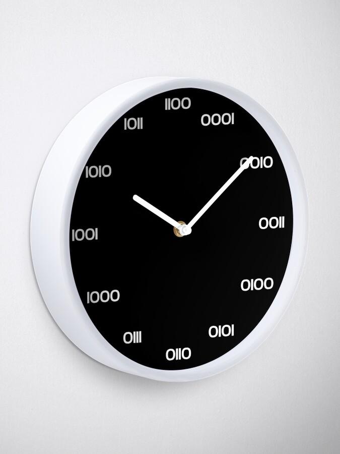 Alternate view of Binary Clock Clock