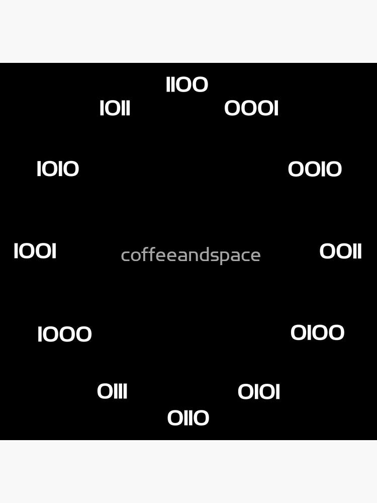 Binary Clock by coffeeandspace