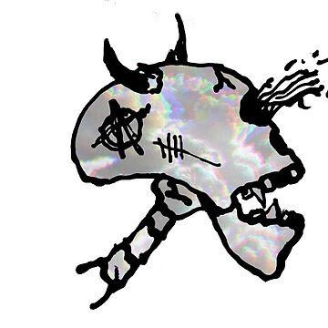 un cráneo nublado de Sosfia