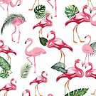 Flamingos Love Pattern by B & K     Store
