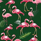 Flamingos Love Pattern 5 by B & K     Store