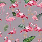 Flamingos Love Pattern 6 by B & K     Store