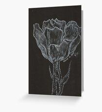 Tulip in Gypsum Crystals Dedicate to Ellen Greeting Card