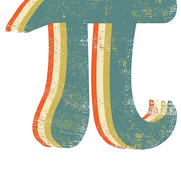 Pi Day Retro Vintage - 3.14 Symbol Math Teacher Gifts by EcoKeeps