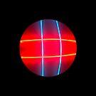 Neon Hashtag Circle by ATJones