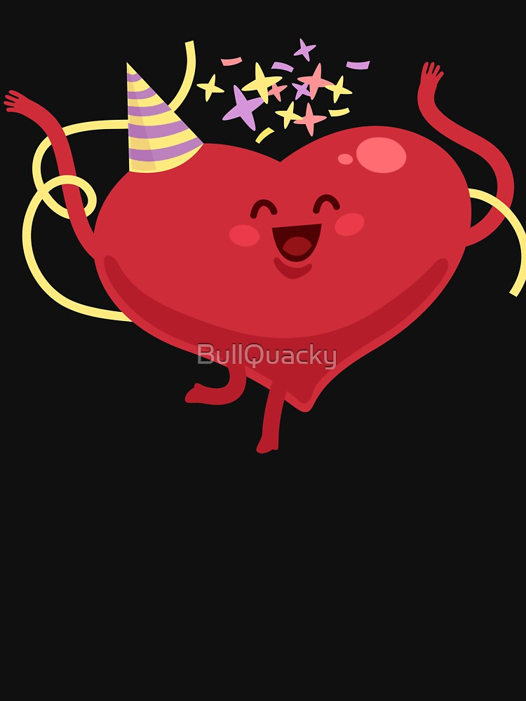 Party Heart Happy - Confetti  - Cute Valentines Day Cartoon Drawing Holiday Design by BullQuacky