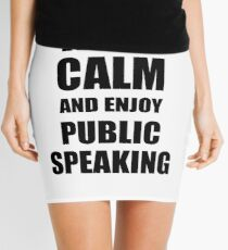 Keep Calm an Enjoy Public Speaking Lover Funny Gift Idea for Hobbies Occupation Present Minirock