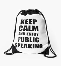 Keep Calm an Enjoy Public Speaking Lover Funny Gift Idea for Hobbies Occupation Present Turnbeutel