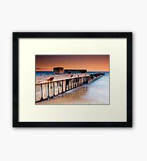 Dusk at Mentone Pier #1 Framed Print