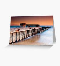 Dusk at Mentone Pier #1 Greeting Card