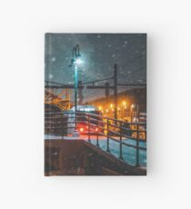 4 AM Train to Winter Hardcover Journal