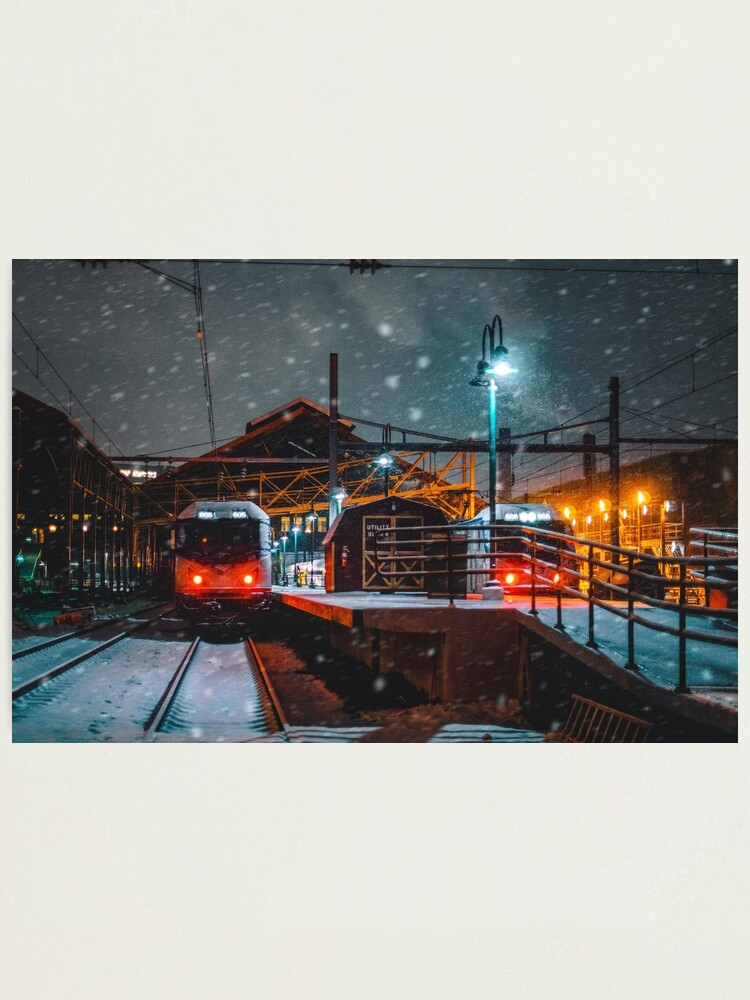 Alternate view of 4 AM Train to Winter Photographic Print