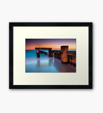 Dusk at Mentone Pier #4 Framed Print