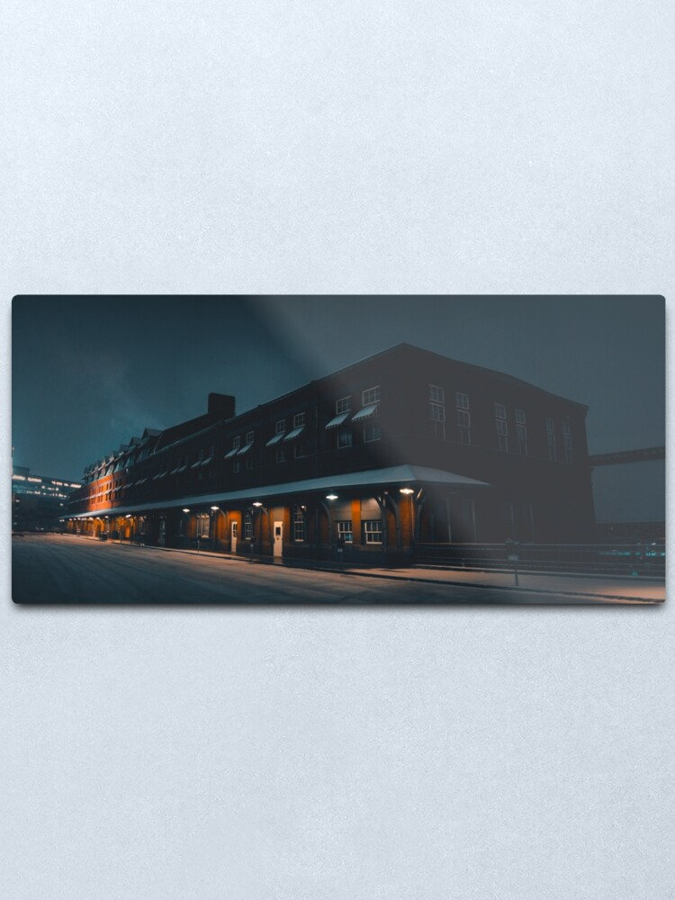 Alternate view of Snowy Morning at the Station Metal Print