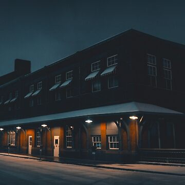 Snowy Morning at the Station by VCOBA