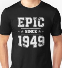 Epic Since 1949, 70th Birthday Retro Style Vintage Slim Fit T-Shirt