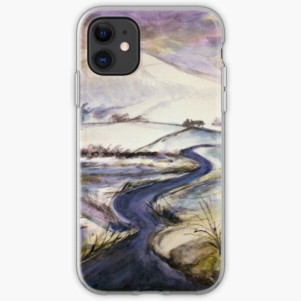 Purple snow iPhone Soft Case