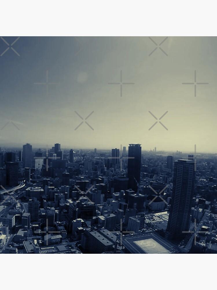 Tokyo Japan skyline summer by RTSM