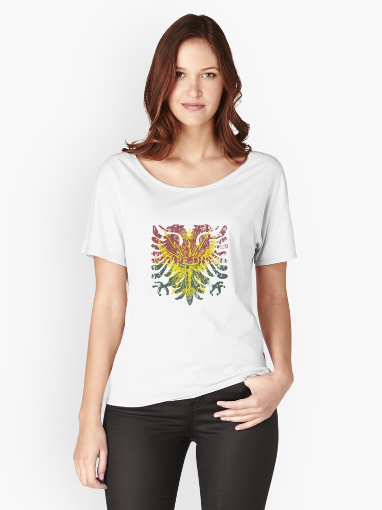 Carpe Diem Mythical Griffin Women's Relaxed Fit T-Shirt Front