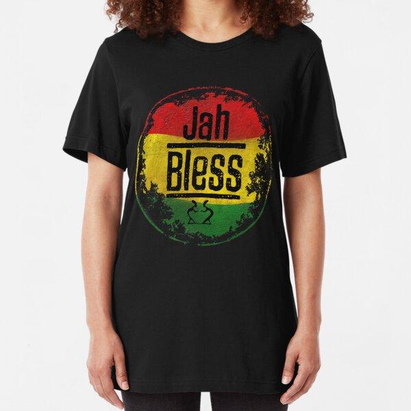 jah bless reggae Slim Fit T-Shirt