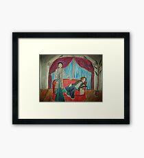 Two Actors On Stage Framed Print