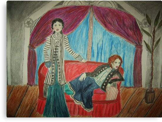 Two Actors On Stage by Zelli