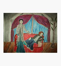 Two Actors On Stage Photographic Print