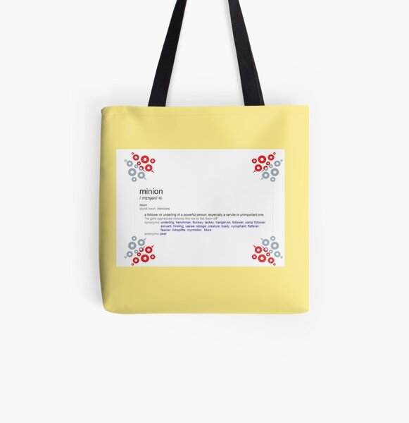 What is the meaning of minion All Over Print Tote Bag