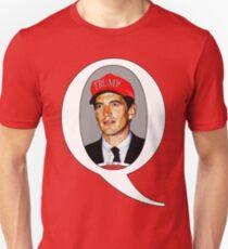 JFK Jr Q Wearing Trump Hat Slim Fit T-Shirt