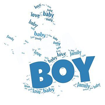 Its A Boy   Baby shower Pregnant boy gift by DrokkWarez