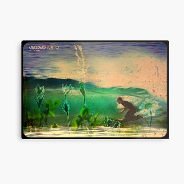 kneeboard Surfing Metal Print