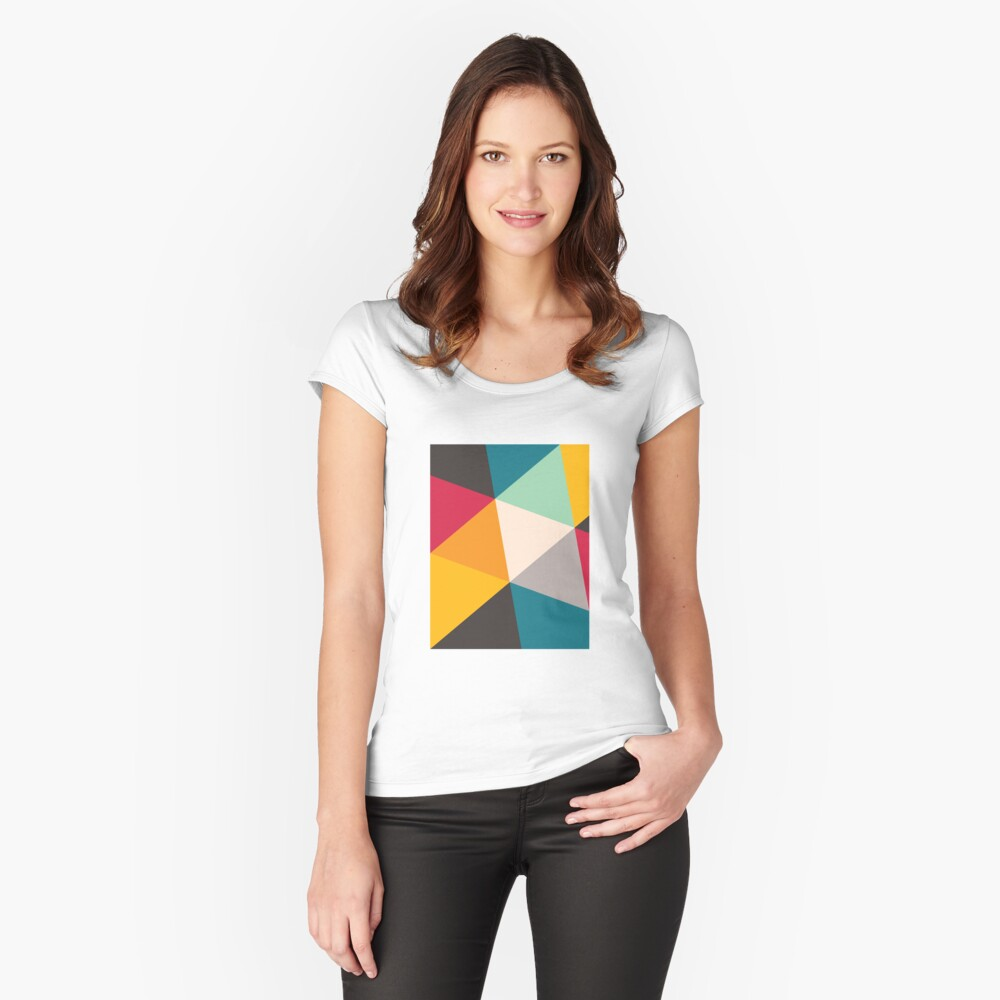 Triangles (2012) Fitted Scoop T-Shirt