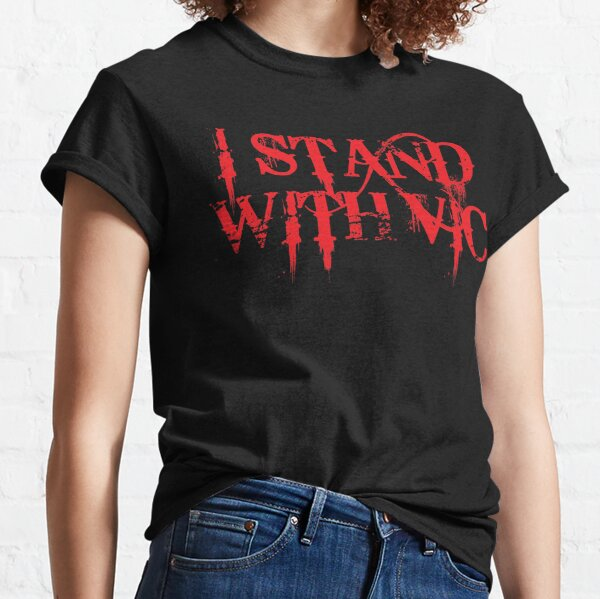 I Stand With Vic version 3 Red Text #istandwithvic #vickicksback Classic T-Shirt