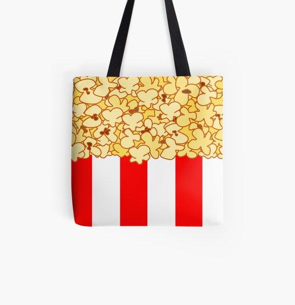 Popcorn All Over Print Tote Bag