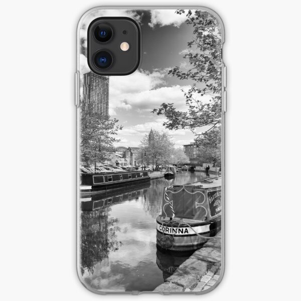 Castlefield Waterways of Manchester and Beetham Tower iPhone Soft Case