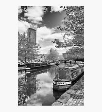 Castlefield Waterways of Manchester and Beetham Tower Photographic Print