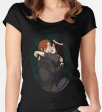 TES: Brynjolf and his little Protege Women's Fitted Scoop T-Shirt