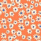 Daisies For Days - Tangerine by cmanning