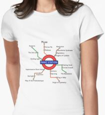 Panic Station Underground Map Womens Fitted T-Shirt