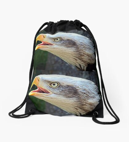 Alaskan Bald Eagle Drawstring Bag