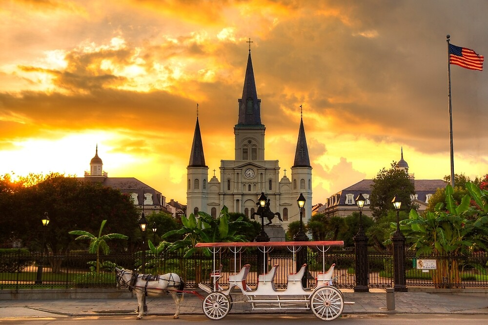 Jackson Square at Dusk  by freespan