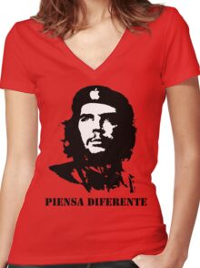 The Revolution WILL Be Televised, Right After A Word From Our Sponser (Apple) Women's Fitted V-Neck T-Shirt