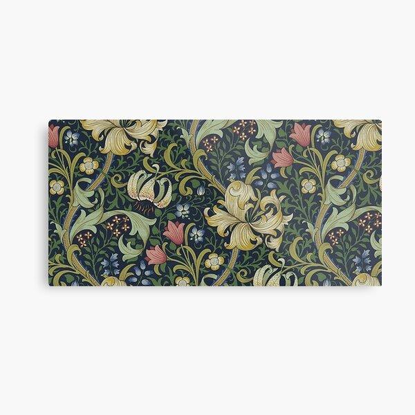 William Morris Golden Lily pattern Metal Print