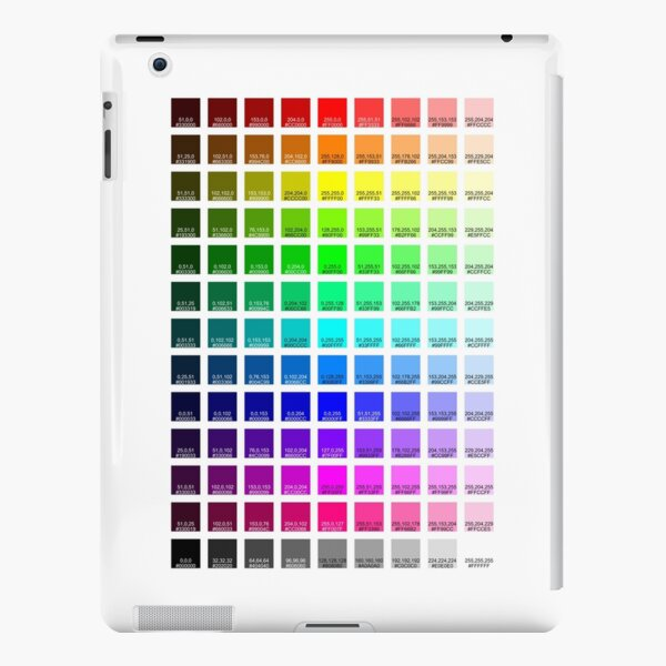 Redbubble RGB to CMYK Color Swatches iPad Snap Case