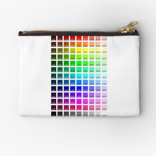 Redbubble RGB to CMYK Color Swatches Zipper Pouch