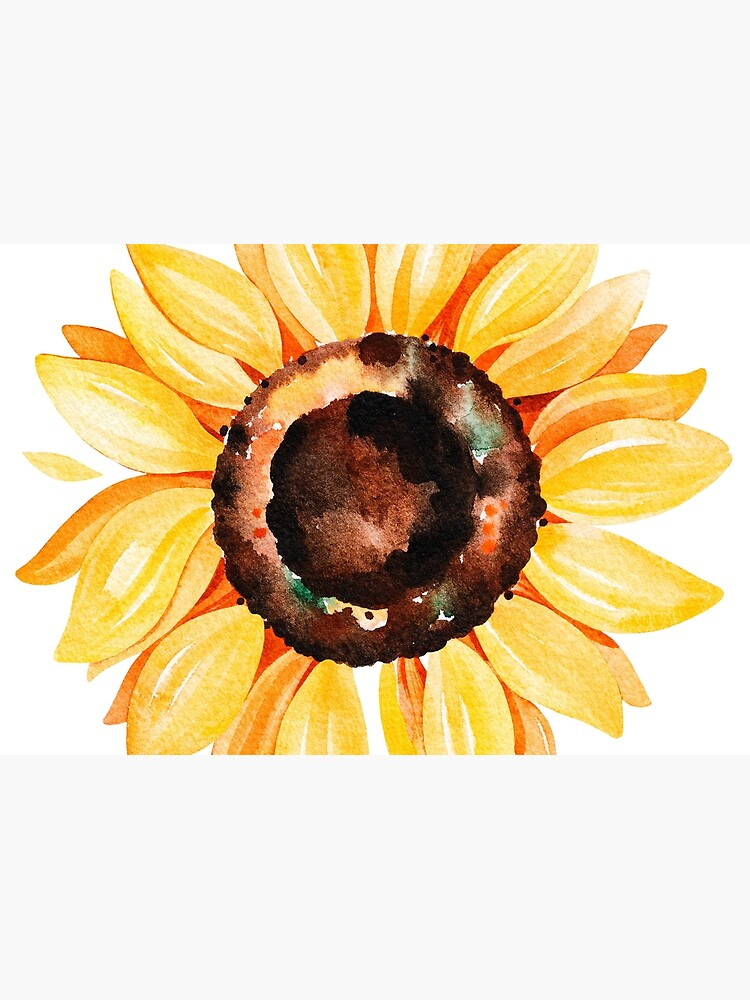Watercolor sunflower by SouthPrints
