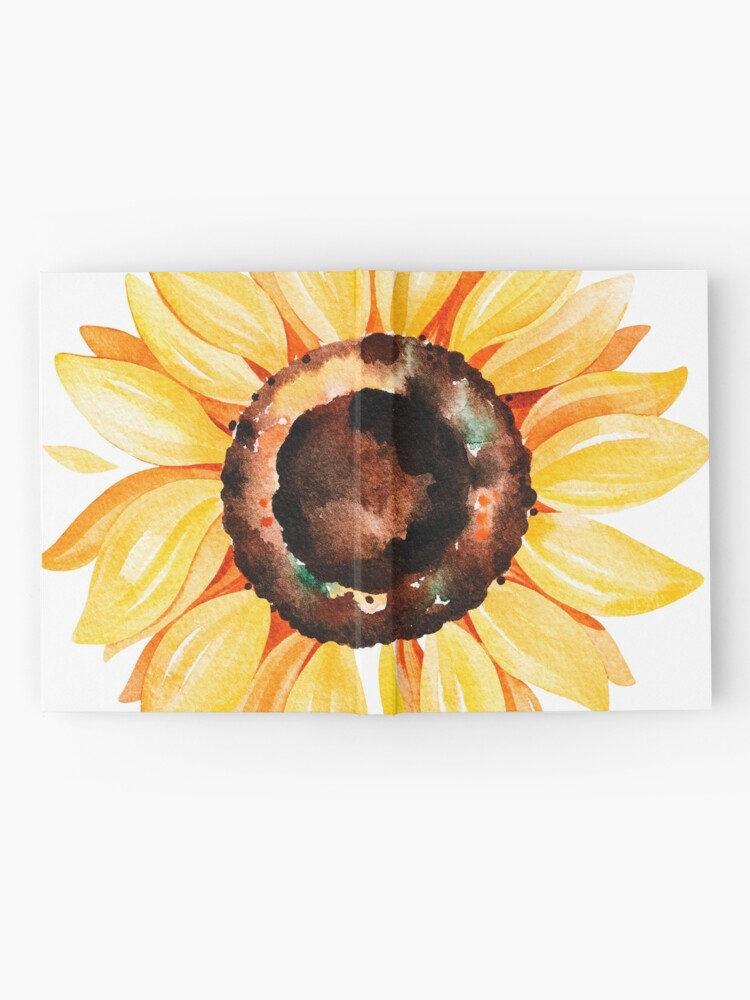 Alternate view of Watercolor sunflower Hardcover Journal
