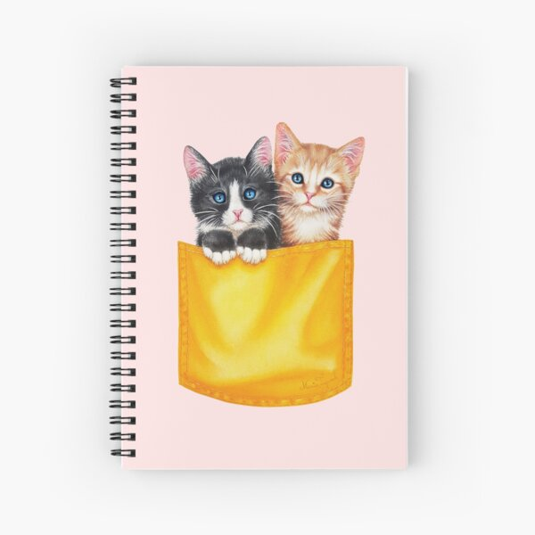 Meow by Maria Tiqwah Spiral Notebook