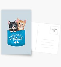 Adopt cats by Maria Tiqwah Postcards