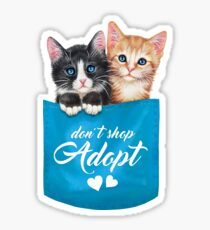 Adopt cats by Maria Tiqwah Sticker